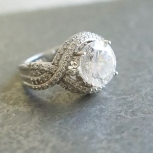 Oval Cubic Zirconia SS Ring
